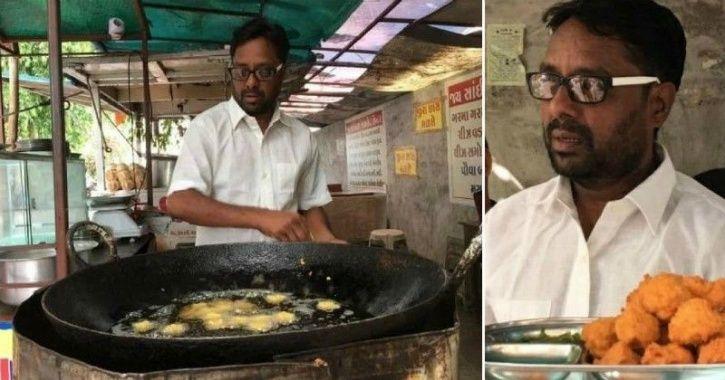 P pakoda, Gujarat man