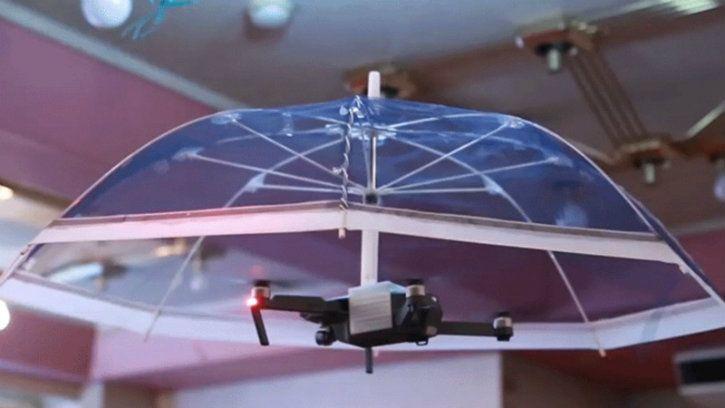 parasol flying umbrella drone