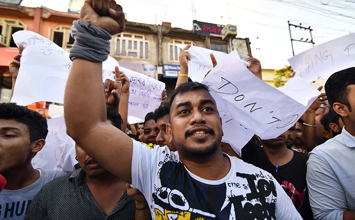 Protest in Assam Over Two Man Lynched By Mob