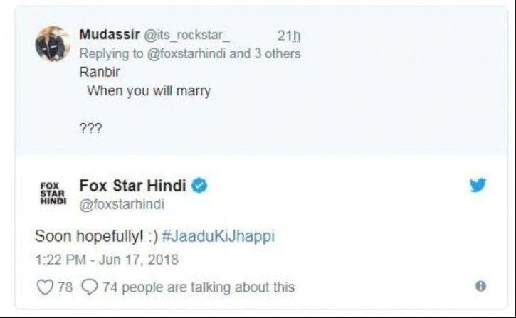 Ranbir Kapoor Admits Marriage Is On His Mind, Says It Will Hopefully Happen Soon
