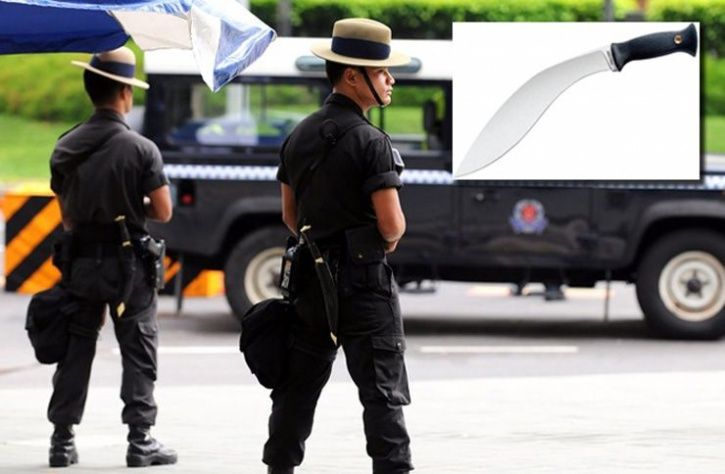 singapore gurkha policemen