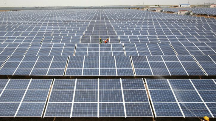 Solar energy installation in India