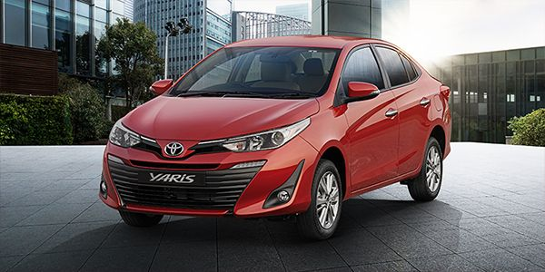 The Yaris is available in 6 colours