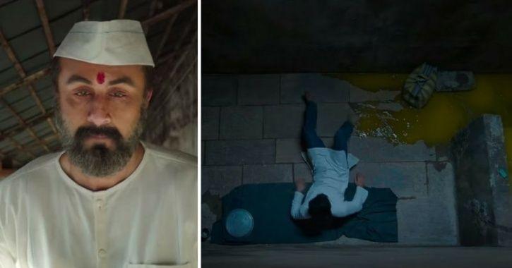 Toilet leakage scene from Ranbir Kapoor starrer Sanjay Dutt biopic titled Sanju.