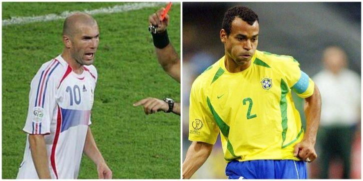 Zinedine Zidane has got  cards in the FIFA World Cup
