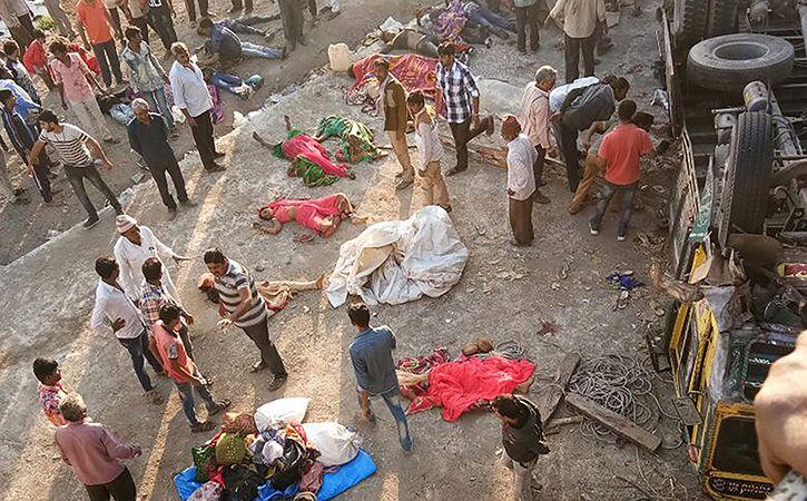 28 Killed In Gujarat After Truck Falls Into Drain