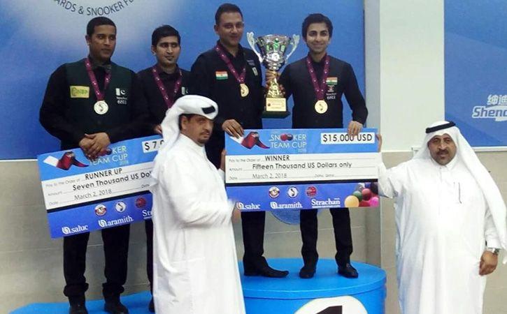 Advani Led India Beat Pakistan To Win Snooker Team World Cup