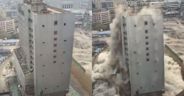 building demolished in China