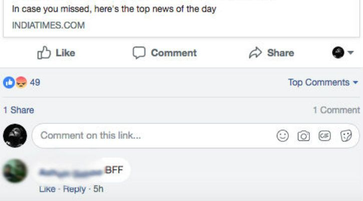 facebook bff comment