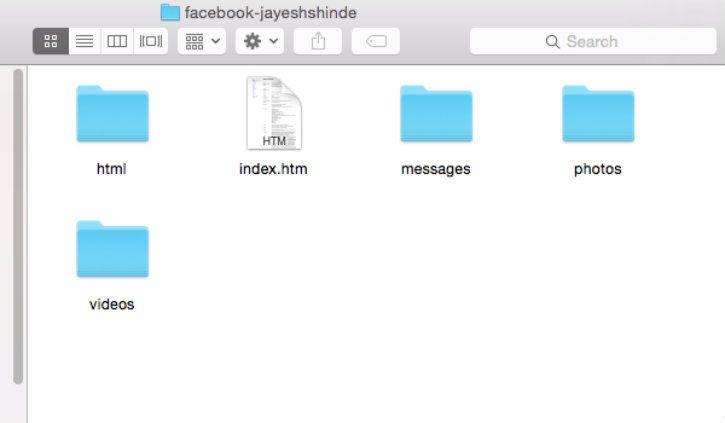 facebook data folder
