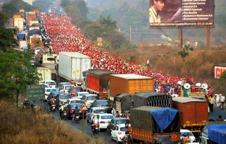 maharashtra farmers are protesting