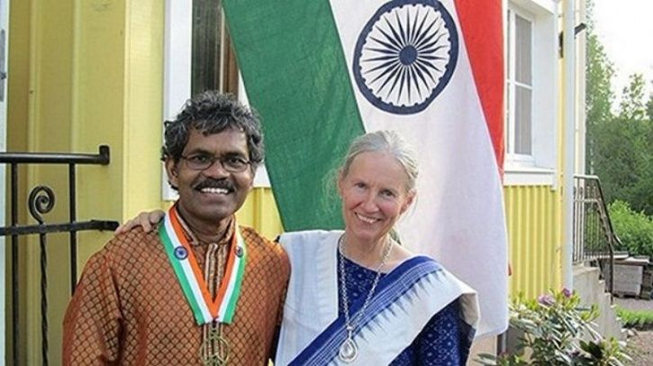 man cycles to Sweden to be with his wife