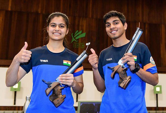 Manu Bhaker Anmol wins air pistol mixed gold