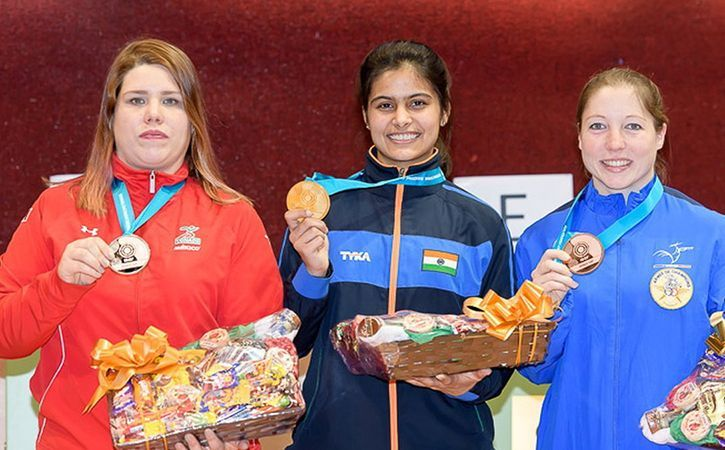 Manu Bhaker has won two World Cup shooting golds