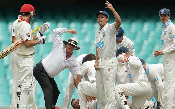 Sean Abbott had knocked down Phil Hughes with a bouncer in 2014