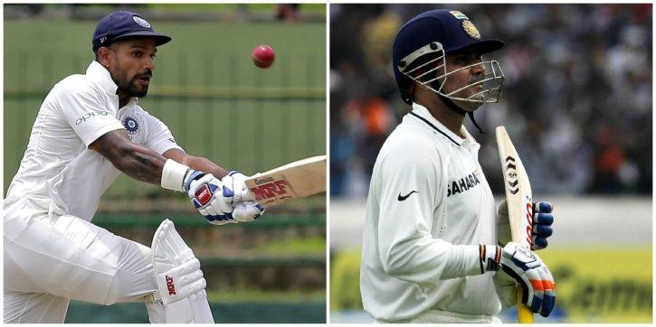 Shikhar Dhawan made 187 on his Test debut