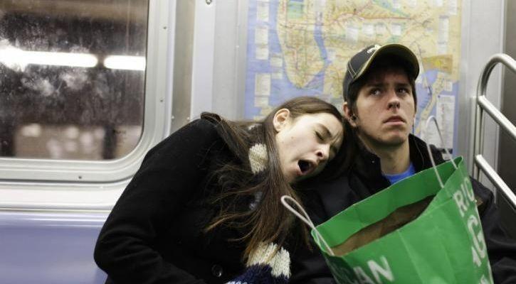 sleepy humans