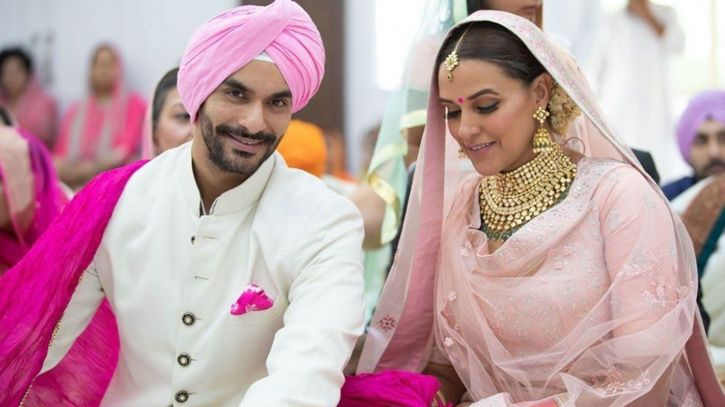 A picture from Neha Dhupia and Angad Bedi