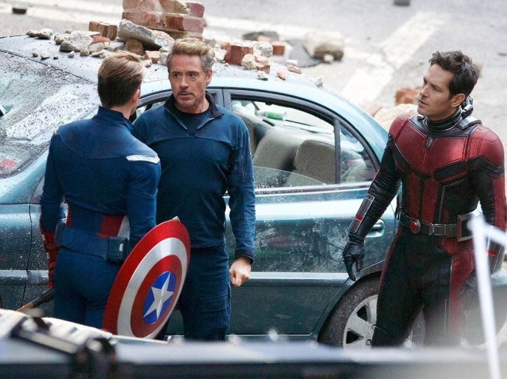 A picture from the sets of Avengers 4.