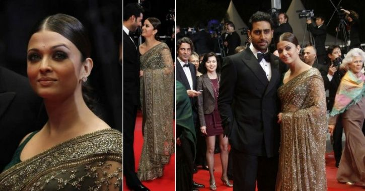 A picture of Aishwarya Rai Bachchan from Cannes Film Festival 2013.