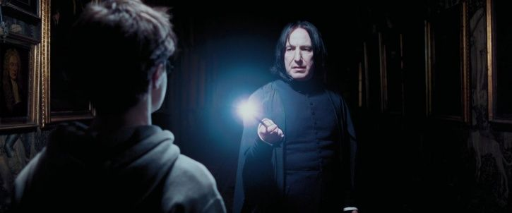 A picture of Alan Rickman AKA snape from Harry Potter.