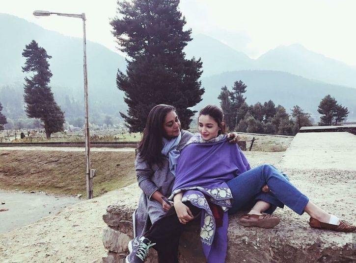 A picture of Alia Bhatt with Raazi director Meghna Gulzar.