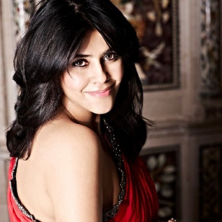 A picture of daily soap director and producer Ekta Kapoor.