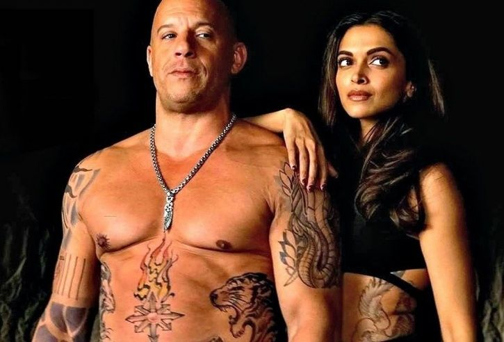 A picture of Deepika Padukone and Vin Diesel from xXx return of Xander cage.