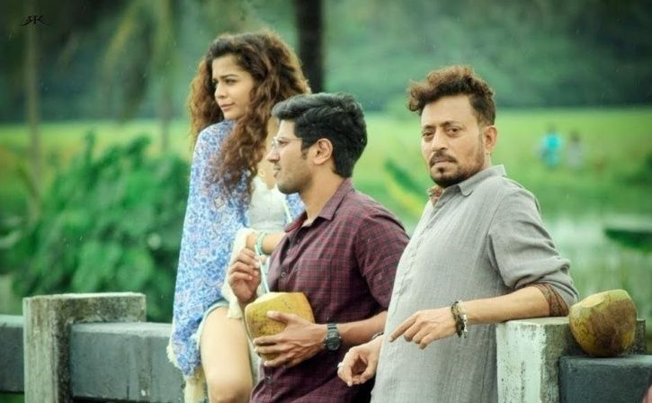 A picture of Irrfan Khan from the sets of Karwaan.