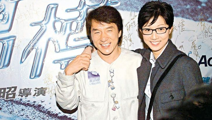 A picture of Jackie Chan and her ex lover Elaine Ng Yi Lei.