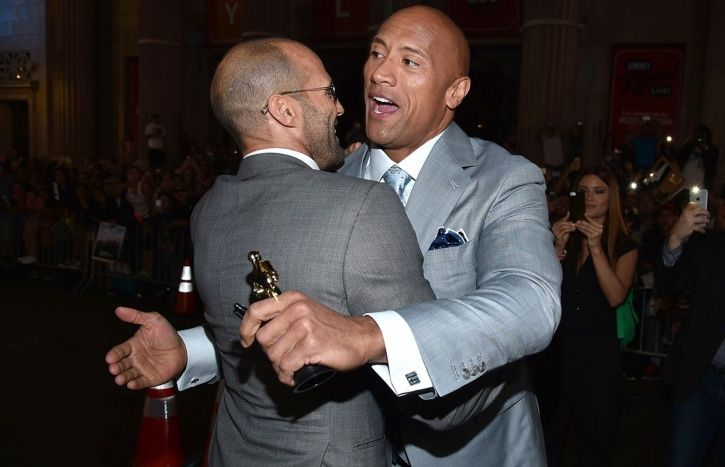 A picture of Jason Statham and Dwayne Johnson.