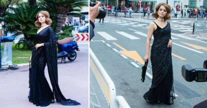 A picture of Kangana Ranaut at Cannes Film Festival 2018.