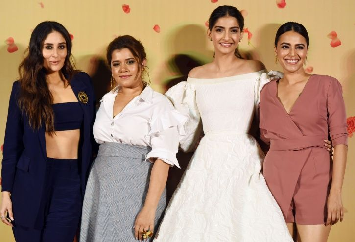 A picture of Kareena Kapoor Khan from the trailer launch of Veere Di Wedding.