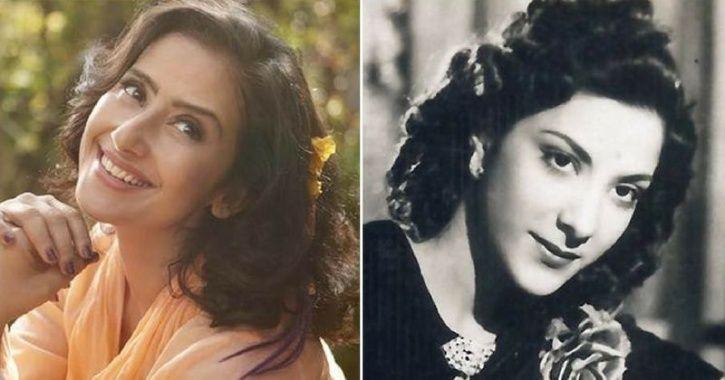 A picture of Manisha Koirala as Nargis Dutt.