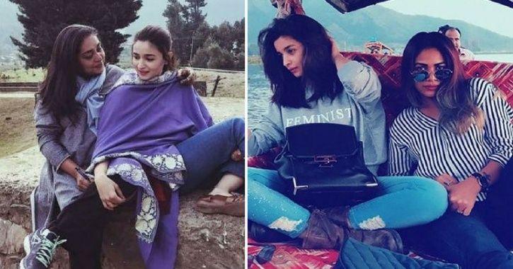 A picture of Raazi director Meghna Gulzar with Alia Bhatt.