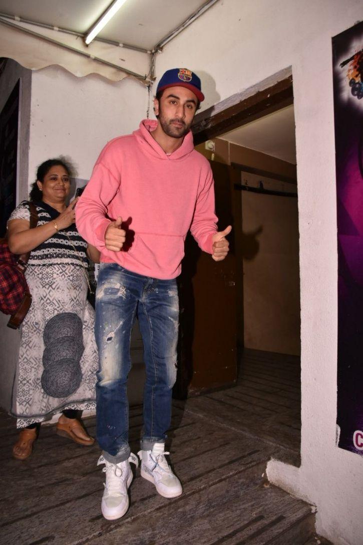 A picture of Ranbir Kapoor at Raazi screening.
