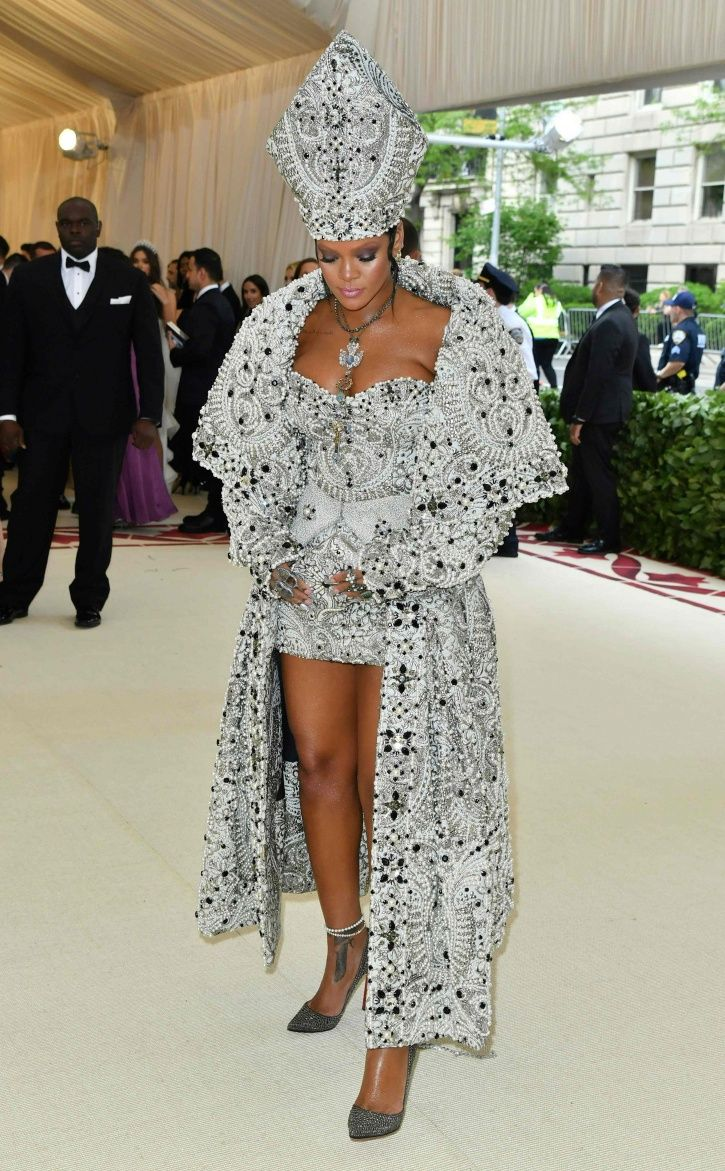 A picture of Rihanna at Met Gala 2018.
