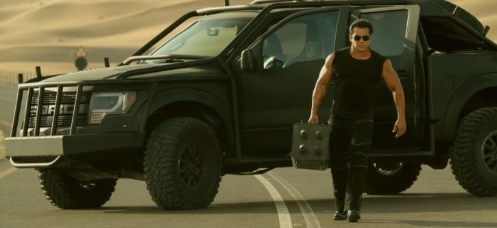 A picture of Salman Khan from Race 3 trailer.