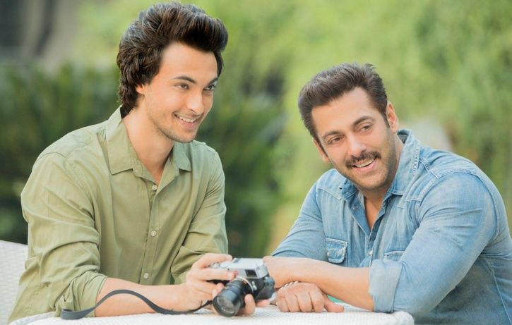 A picture of Salman Khan with his bother-in-law and Loveratri star Aayush Sharma.