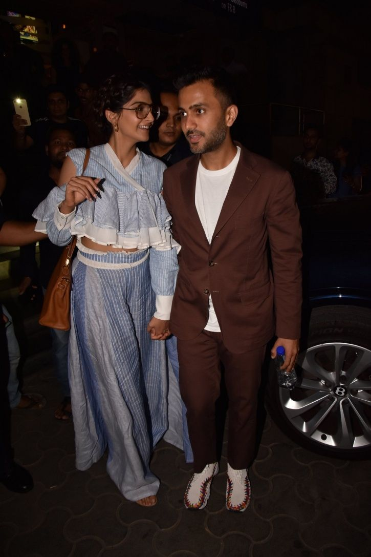 A picture of Sonam Kapoor from Veere Di Wedding screening.