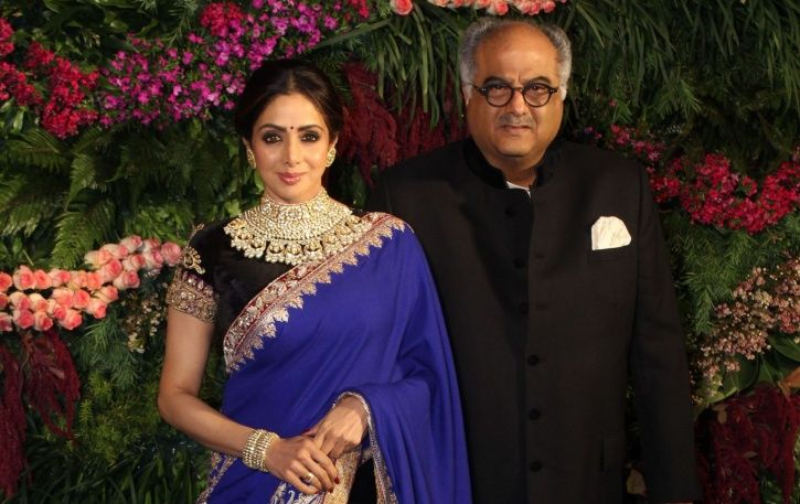 A picture of Sridevi and Boney Kapoor.