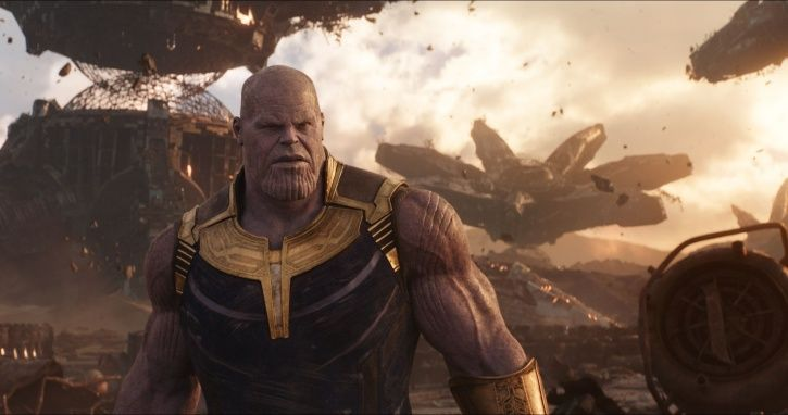 A picture of Thanos from Avengers: Infinity War.