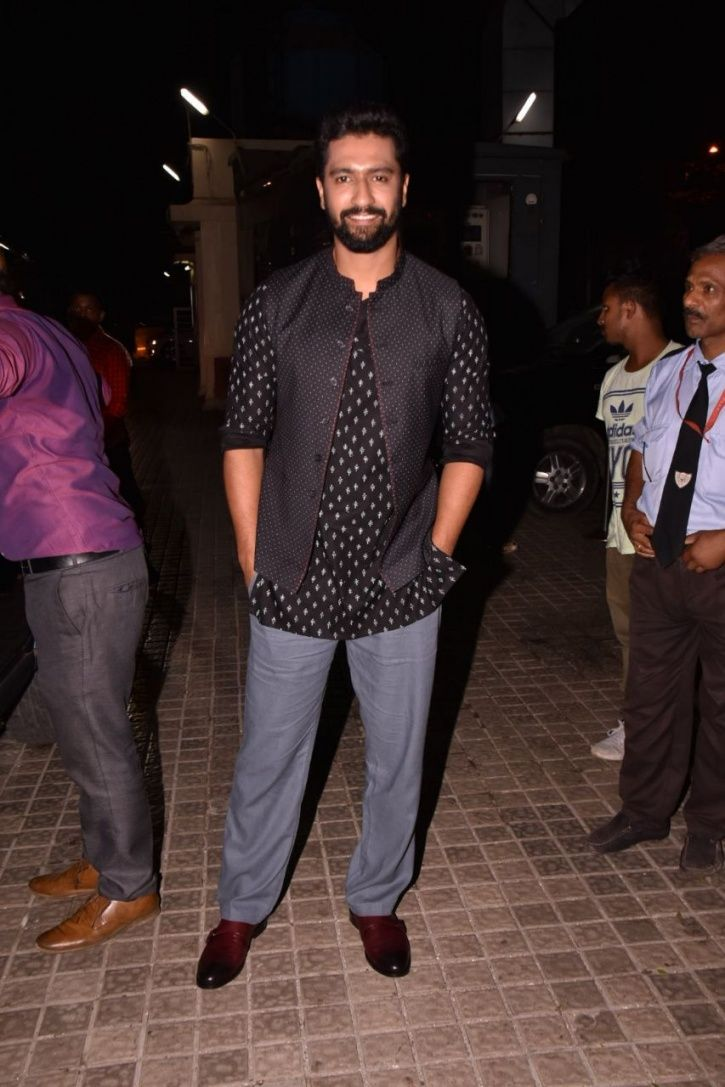 A picture of Vicky Kaushal at Raazi screening.