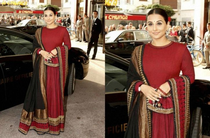 A picture of Vidya Balan at Cannes Film Festival.