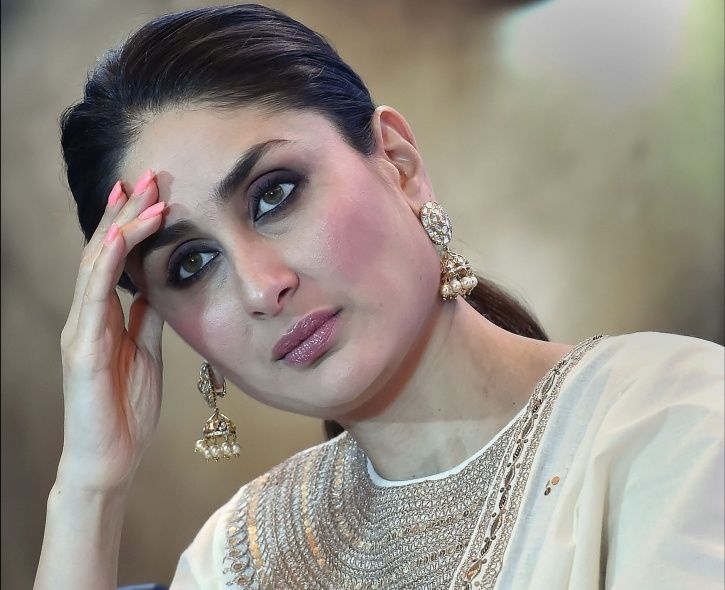 A picture pof Kareena Kapoor as she talks on feminism at Veere Di Wedding promotion