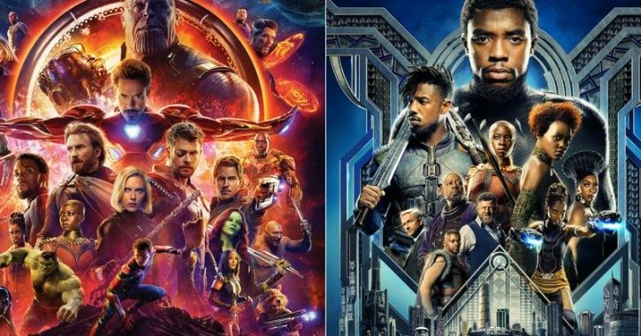 A poster of Avengers: Infinity War and Black Panther.