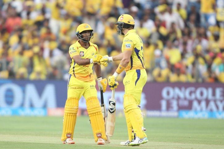 Ambati Rayudu and Shane Watson put on 134 for the first wicket.