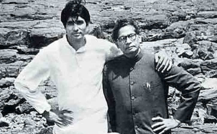 Amitabh and Harivansh Rai Bachchan