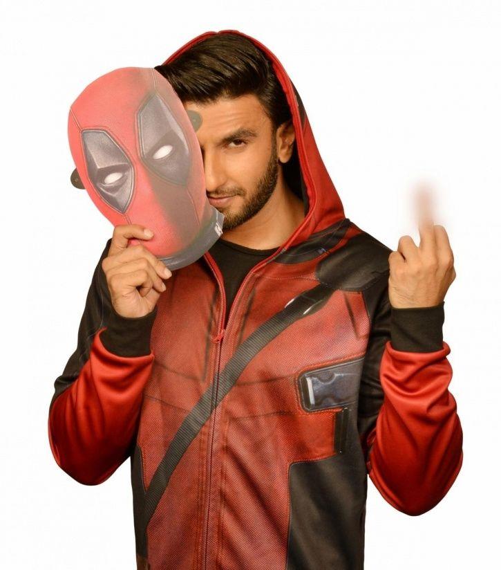 apicture of Ranveer Singh as Deadpool 2.