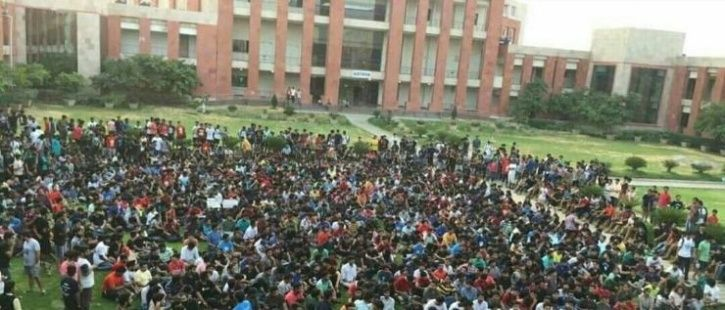 BITS protesting students fee hike